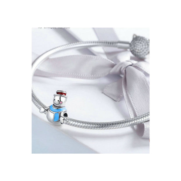 Mr Snowman Color Enamel Charms