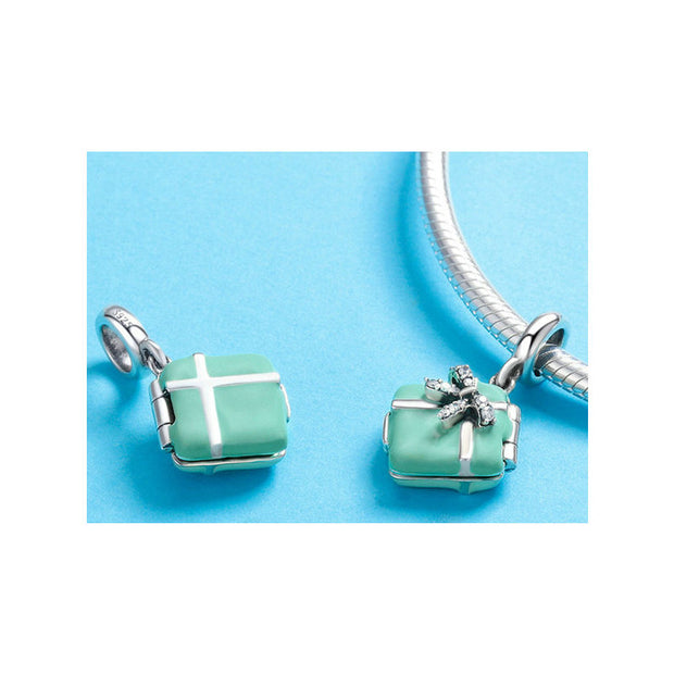Candy Box Bowknot Charm Pendant