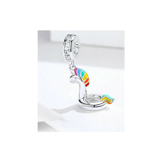 Unicorn Swimming Pendant