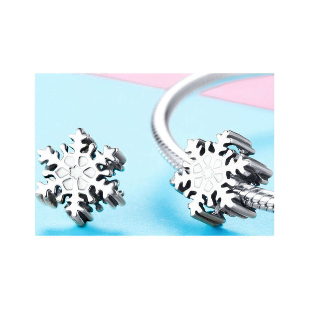 Winter Snowflakes Charm Beads