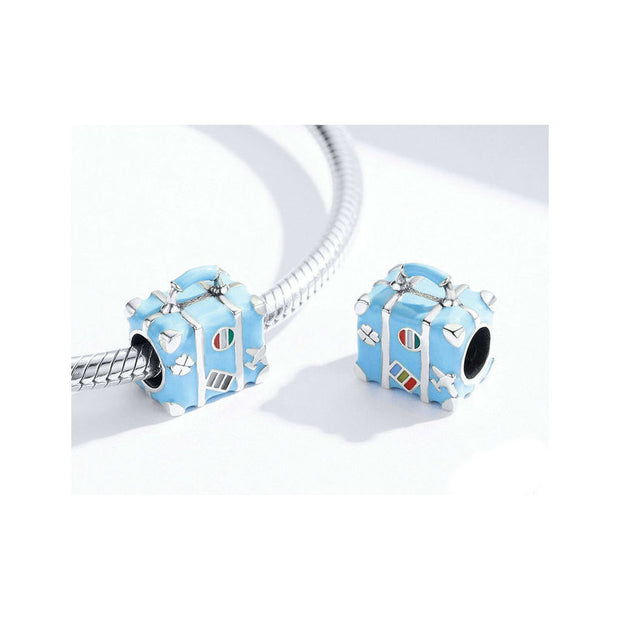 Blue Suitcase Bead