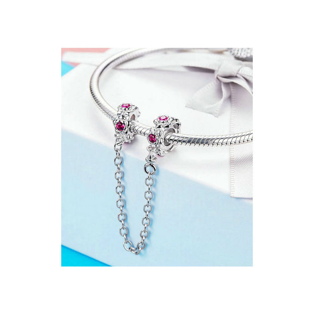 Flower Garland Pink Safety Chain