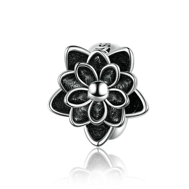 Black Flower Lotus Clips & Stoppers