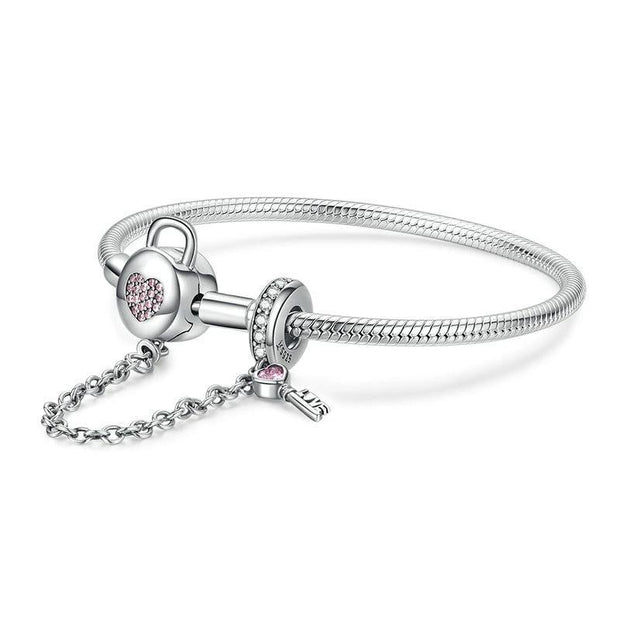 Heart Lock and Key Bracelet