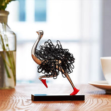 Load image into Gallery viewer, Ostrich Magnetic Paper Clip Holder