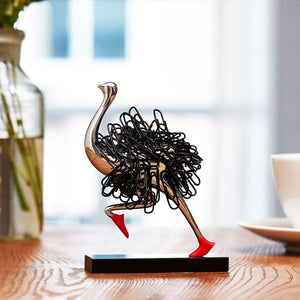 Ostrich Magnetic Paper Clip Holder