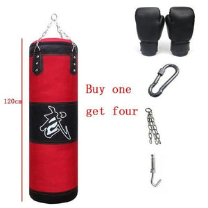Punching bag and gloves kit