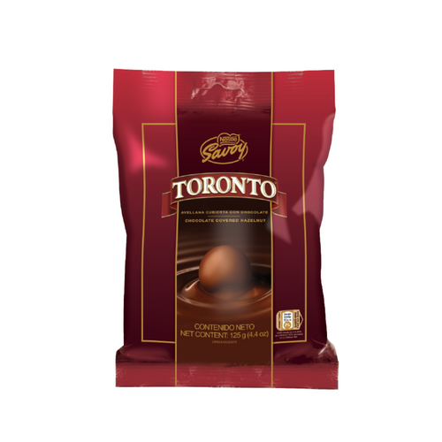 Toronto  - Hazelnut Covered with Chocolate 125g containing 14 Pieces