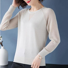 Charger l'image dans la galerie, Womens Pullover Spring Autumn Basic Blouse Shirts Ladies Long Sleeve Casual Tops Pullovers New Arrival Elastic Women