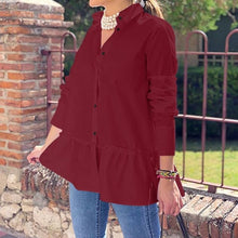 Charger l'image dans la galerie, 2019 Celmia Autumn Women Casual Blouses Long Sleeve Ruffled Shirts Buttons Loose Solid Work Blusas Femininas Tops Plus Size 7