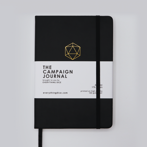 The Campaign Journal for DnD 5e - A5 Hardcover Notebook