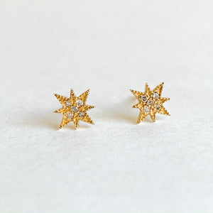 gold & pave diamond starbursts