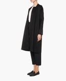 KNEE-LENGTH WOOL AND CASHMERE BLEND COAT