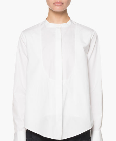 DOUBLE LAYERED POPLIN SHIRT
