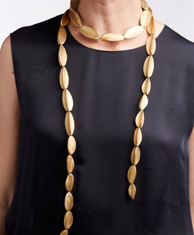 GOLD LONG CACTUS NECKLACE