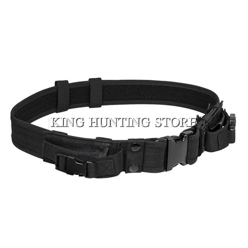 With Two Horizontal Magazine Pouches Outdoor Hunting Military Tactical Gear Army Belt Nylon Hunting Pouches Tactical Belt