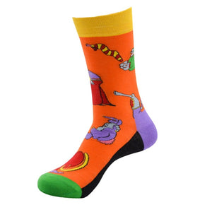 1 PR. Cotton Crazy Fun Skateboard Socks
