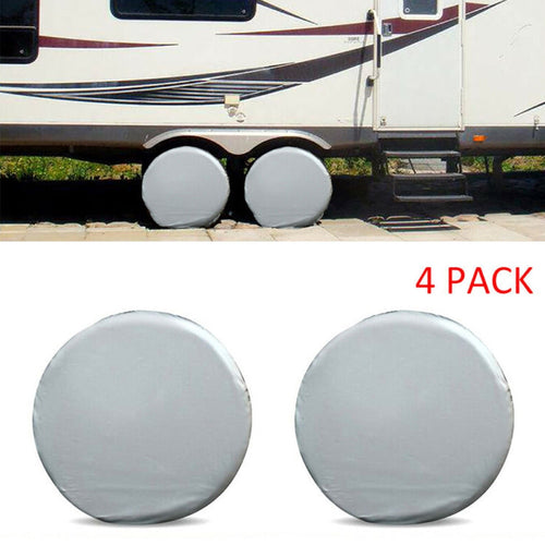 4pcs Spare Tire Wheel Cover Protector Case Waterproof Vehicles Camper Car Truck RV Parts Accessories Styling Dustproof