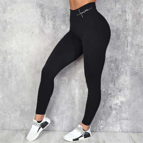 Spandex Sport Leggings High Waist Plus Sizes