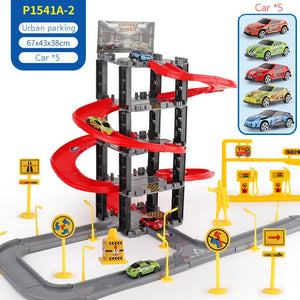 City Track Toy Set Three-dimensional Multi-layer Parent-child Interaction Gift