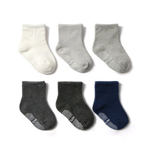 Load image into Gallery viewer, 6 Pairs/lot 0 to 6 Yrs Cotton Children's Anti-slip Socks