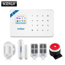 Load image into Gallery viewer, KERUI W18 Security Alarm for the House Alarm Systems Security home GSM Wifi Garage Smart Home Kit With Smoke Window Sensor Siren