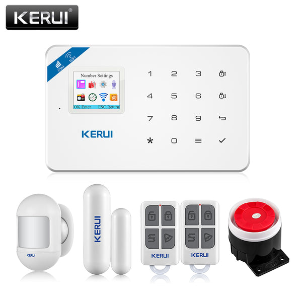 KERUI W18 Security Alarm for the House Alarm Systems Security home GSM Wifi Garage Smart Home Kit With Smoke Window Sensor Siren