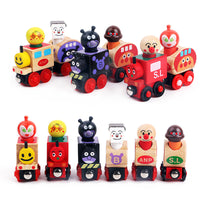 Kids Anpanman Train Set Magnetic Vehicle Blocks Kids Educational Toys
