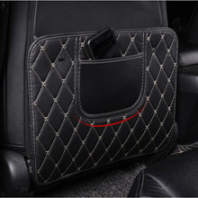 Load image into Gallery viewer, HYZHAUTO 1Pcs Leather Car Seat Back Protector Mats Storage Bag Children Anti-Kick Pad Auto Seats Protect Cover