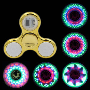 LED Fidget Spinner Stress Relief Toys For Kids