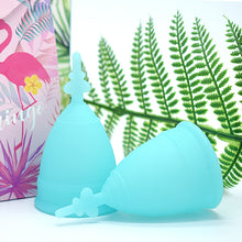 Load image into Gallery viewer, Medical Silicone Menstrual Cup Copa Menstrual De Silicona Medica Period Cups Reusable Feminine Hygiene Cup Foldable Silicone Cup