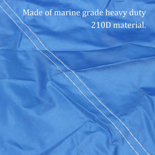 Load image into Gallery viewer, 11-13ft 14-16ft 17-19ft 20-22ft Heavy Duty Blue Boat Cover Waterproof Anti UV 210D Marine Trailerable V-Hull Protective Canvas