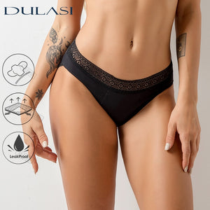 Sexy Lace Menstrual  Panties Woman Underwear Thong  Leakproof  Underpants Incontinence Waterproof Period Dropshipping DULASI