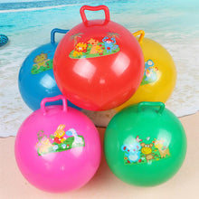 Load image into Gallery viewer, 3Pcs Inflatable Hopper Balls Hop Bouncy Jumping Ball with Handle Assorted Color