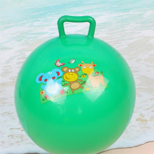 3Pcs Inflatable Hopper Balls Hop Bouncy Jumping Ball with Handle Assorted Color