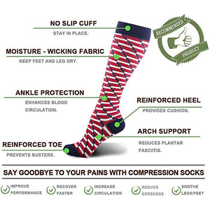 Unisex Fun Compression Sports Warm Long Socks Boots Stockings
