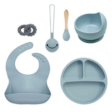 Load image into Gallery viewer, 6pcs/set Baby Feeding Dinnerware Training BPA Free Silicone