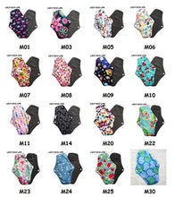 Load image into Gallery viewer, Bamboo cloth menstrual pads, Reusable waterproof.