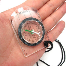 Load image into Gallery viewer, Outdoor Camping Hiking Transparent Plastic Compass Compass Proportional Footprint Travel Military Compass Tools travel kits