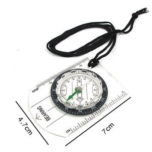 Outdoor Camping Hiking Transparent Plastic Compass Compass Proportional Footprint Travel Military Compass Tools travel kits