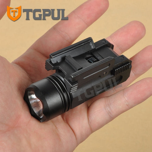 Quick Detach Flashlight LED Rifle Gun Torch for 20mm Rail