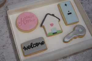 New Home Gift, New Home Cookies, Cookie Gift box