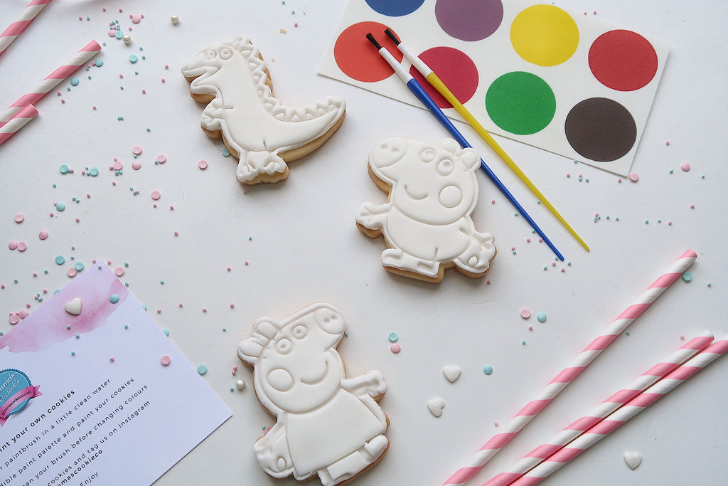 Paint your own Peppa Pig Cookies