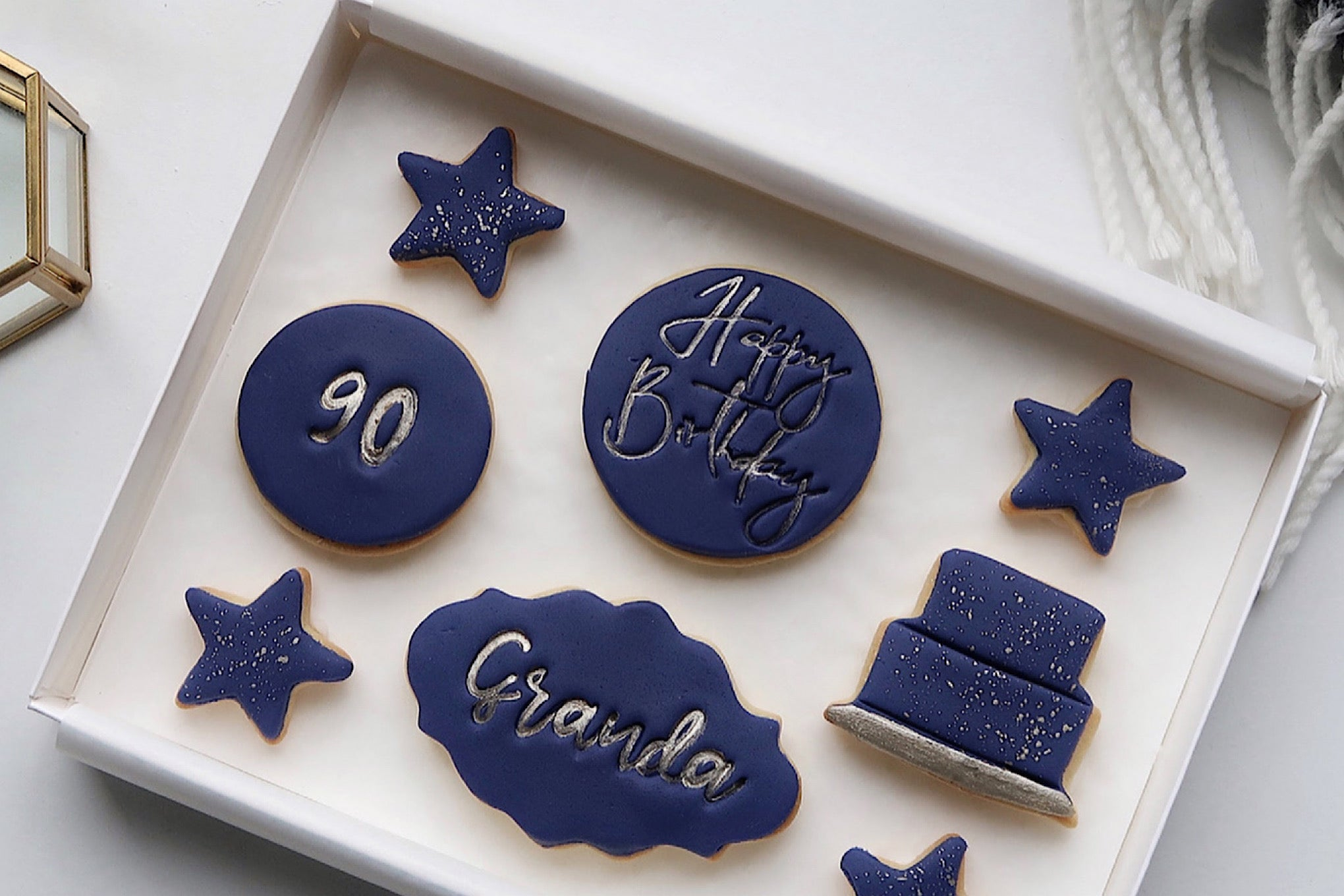 Letterbox Cookie Box for 90th Birthday