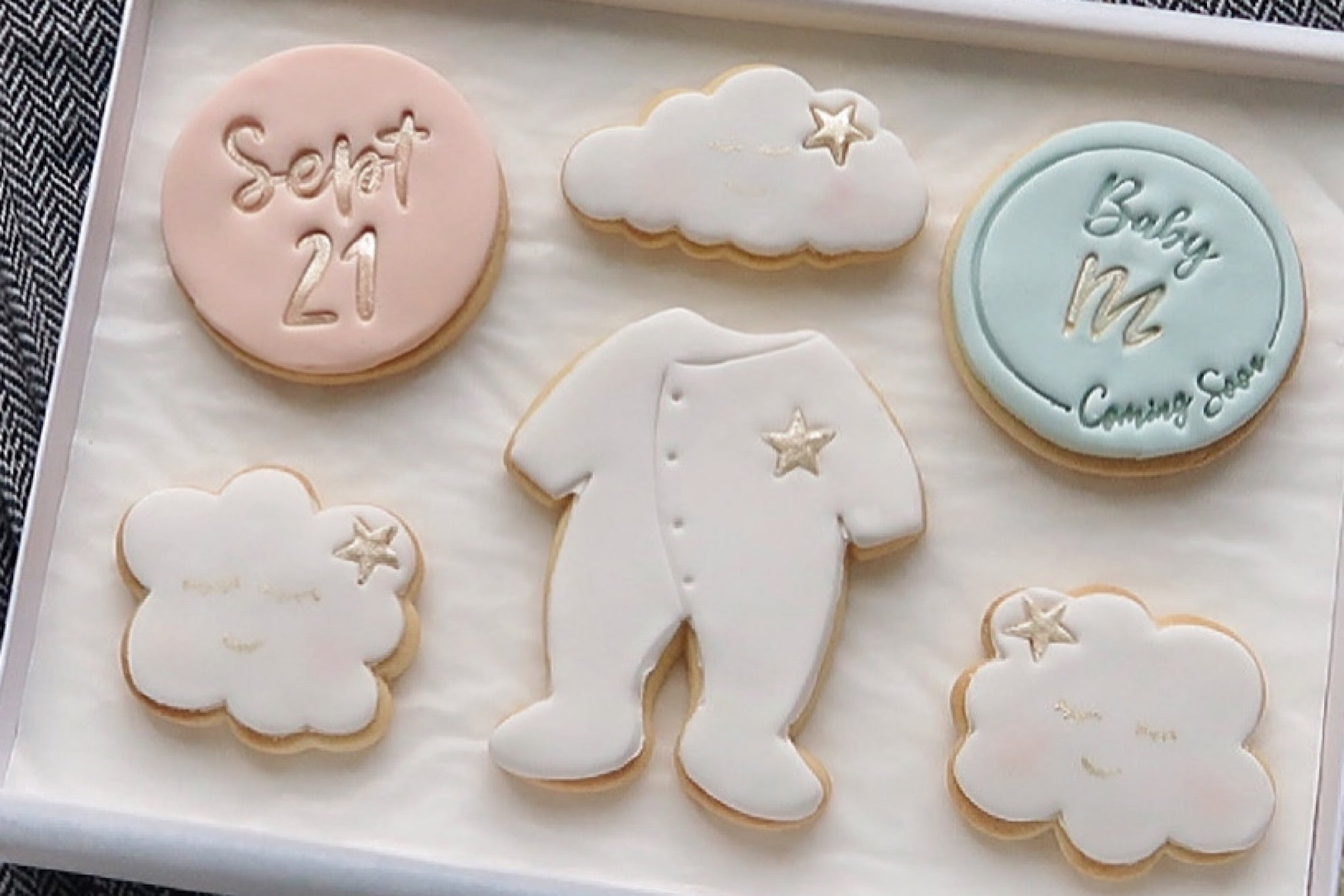 Baby Announcement Cookies