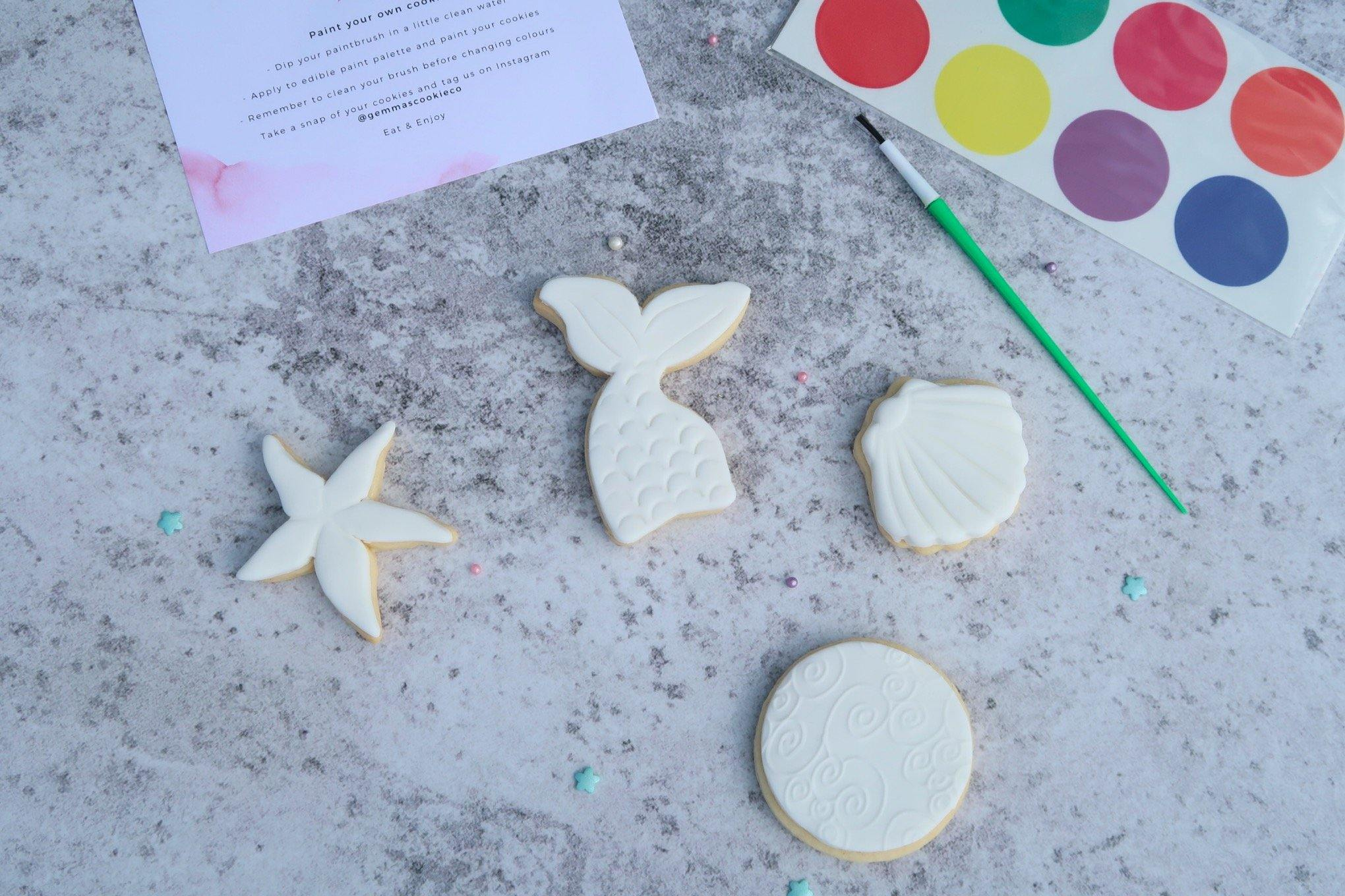 Paint your own mermaid cookie set