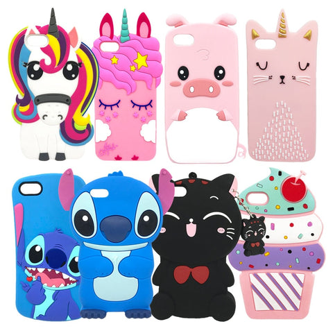 Cute Rubber Case For iPhone