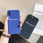 Champion Silicone Phone Case For iPhone