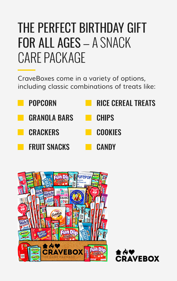 The Perfect Birthday Gift for All Ages — A Snack Care Package