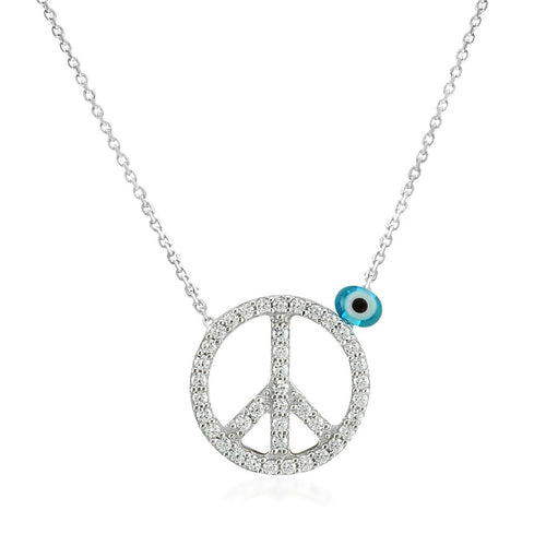 Collier Peace & Love en Argent